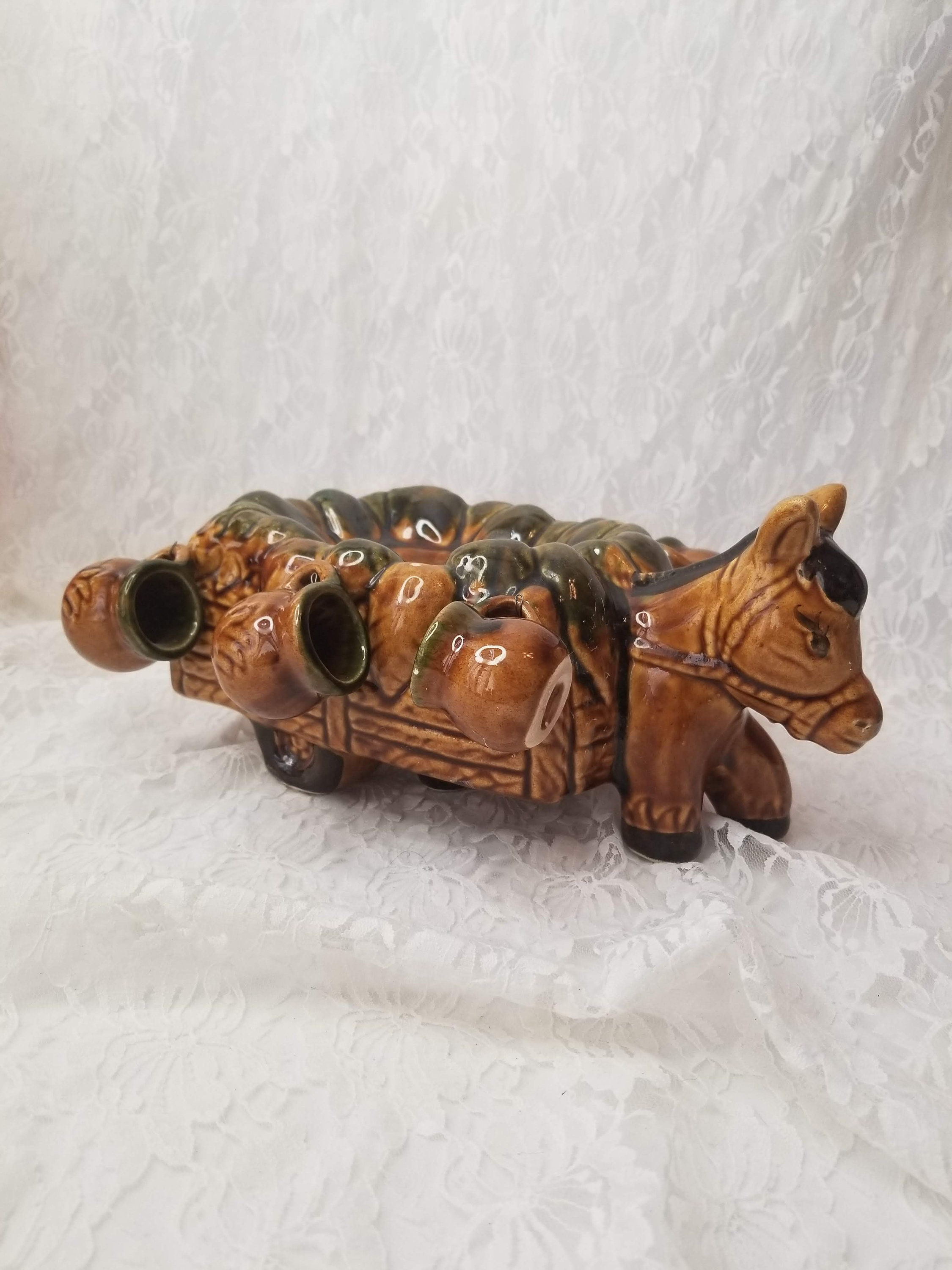 Clearance! Vintage 1960s Figural Donkey Mule Burro Holding 5