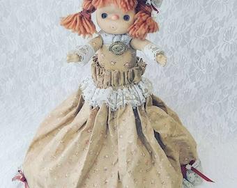1970s Handmade Plastic Bottle Doll ~ Secret Stash Dolly ~ Big Space for Hiding Things