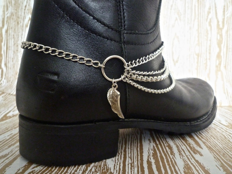 Boot Bracelets  Pair of Wings of Desire Boot image 0