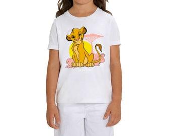 The Lion King Jungle Camo Children/'s Unisex Grey T-Shirt