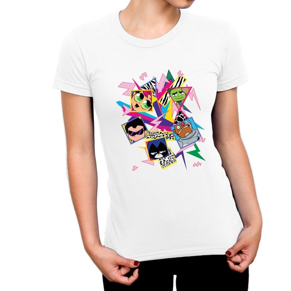 Teen Titans Icons Childrens Unisex White T-Shirt
