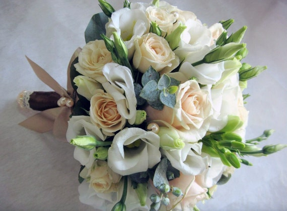 White freesia flower wedding bouquet flower bouquet freesia etsy image 0 mightylinksfo