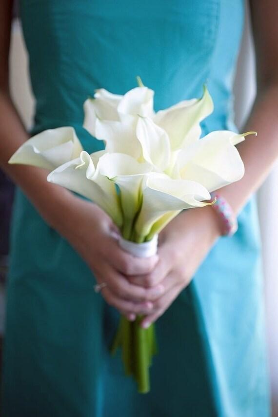 Weisse Calla Lilien Brautstrauss Hochzeitsstrauss Braut Blumen Etsy