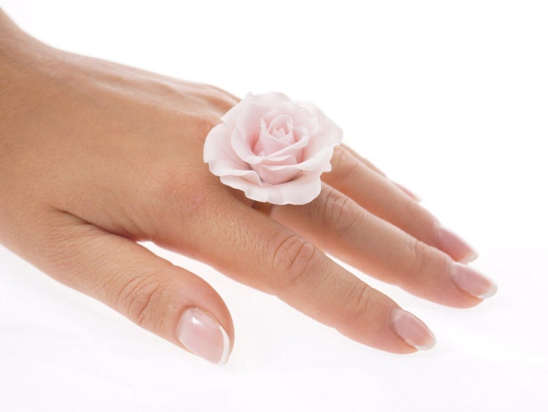 Unique Gift Gift For Her Pink Rose Ring Rose Flower Ring Flower Jewelry Unique Jewelry Pink Jewellery