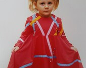 Girls pink Cristmas dress-Long sleeve baby dress-Organic girl dress-Toddler pink dress-Cotton baby dress-Christmas toddler dress-Girls gift