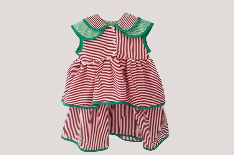 aecc1768b4c Girls cotton dress-Summer red striped dress-Organic girls