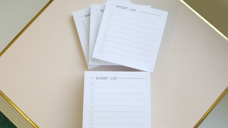 Short List Sticky Note 3-Pack image 0