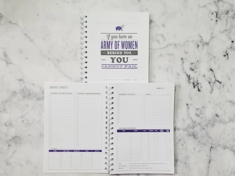 Jefa Planner for Entrepreneurs  Monthly Goals  Budget  image 0
