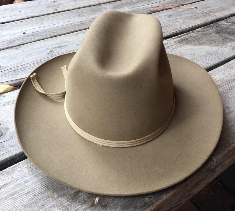 15b3523103978c Vintage Stetson Royal De Lux Hat-Tan Felt Stetson De Luxe | Etsy
