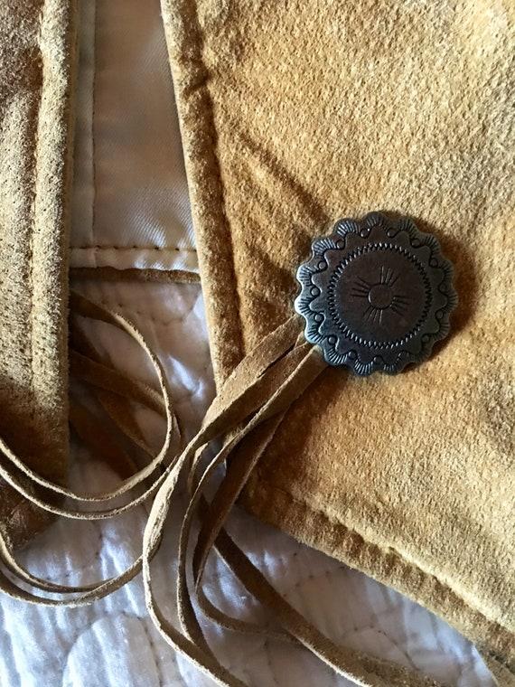 Suede Fringe Bone Jacket-Fringe Jacket-Pioneer We… - image 10