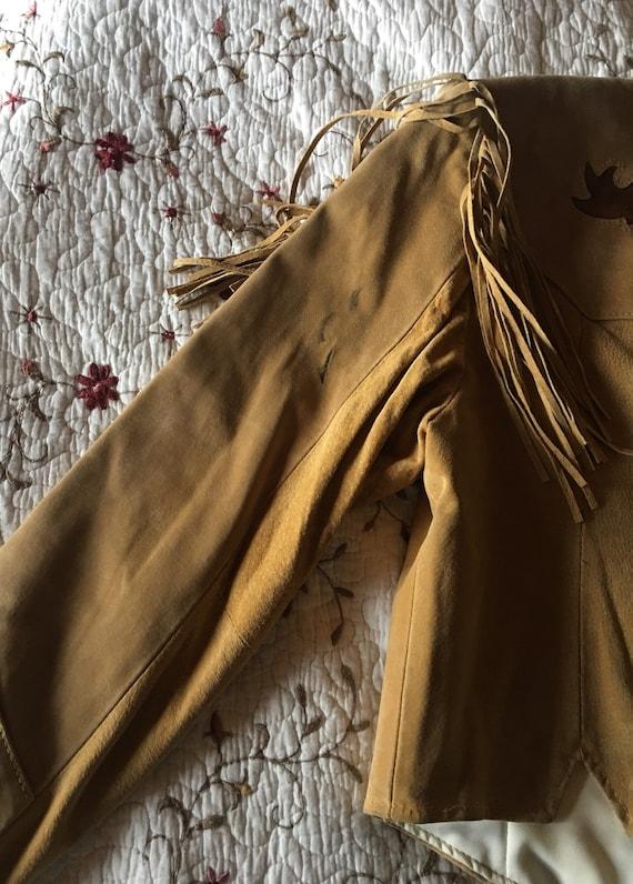 Suede Fringe Bone Jacket-Fringe Jacket-Pioneer We… - image 8