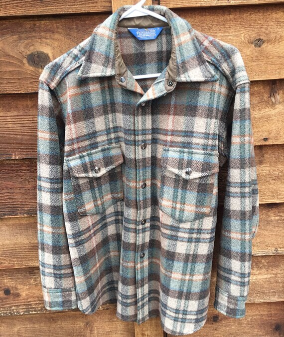 Vintage Mens Pendleton Barn Jacket-Pendleton Snap