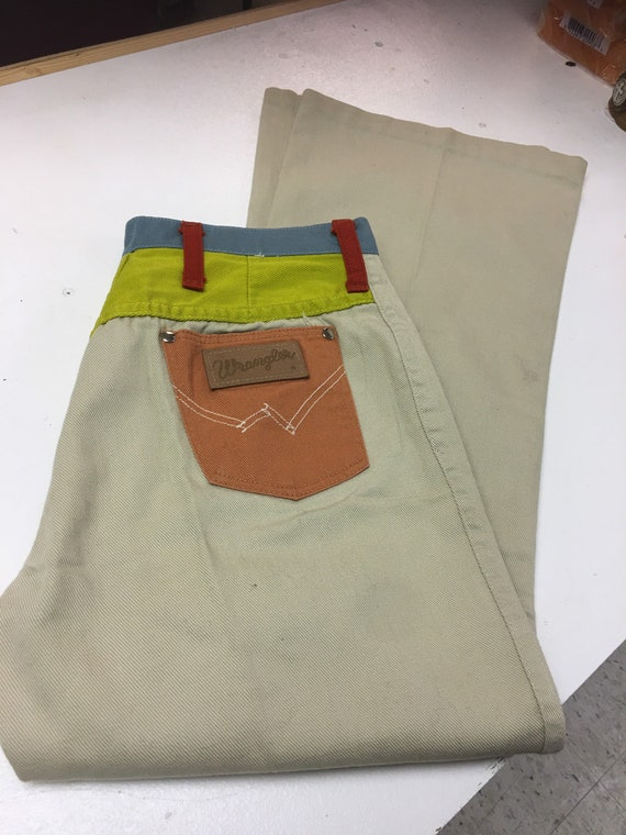 Peter Max Wrangler Brand Jeans-1960s Peter Max Wra