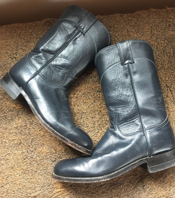 Navy Blue Cowgirl Boots-Justin Brand
