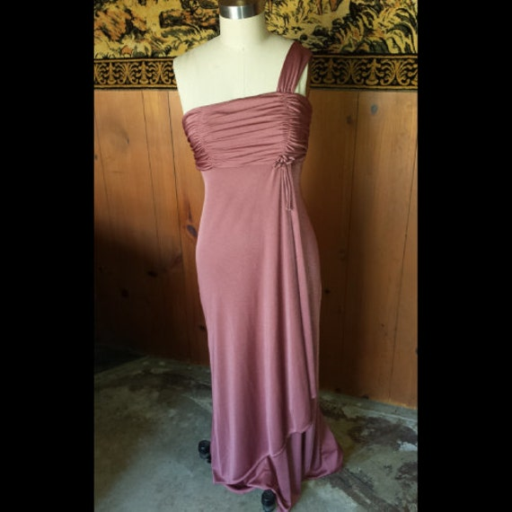 1970s vintage dusty rose dress
