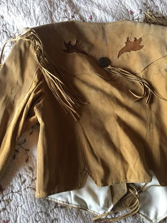 Suede Fringe Bone Jacket-Fringe Jacket-Pioneer We… - image 9