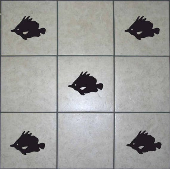 Diamond Square Tile Transfers Stickers Decals Vinyl DIY Waterproof Bathroom T10