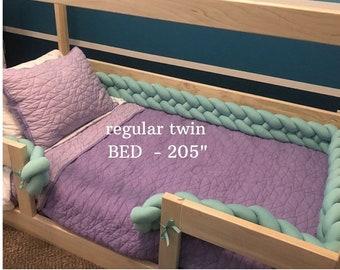 Braided crib bumper Montessori bed bumper toddler bed mattress