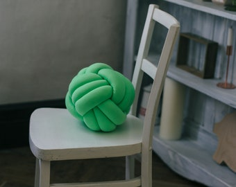 LARGE Knot Pillow pastel green Knot Cushion PillowDecorative Cushion Nursery Decor Home Decor, Kid room decor sale blackfriday, throw pillow
