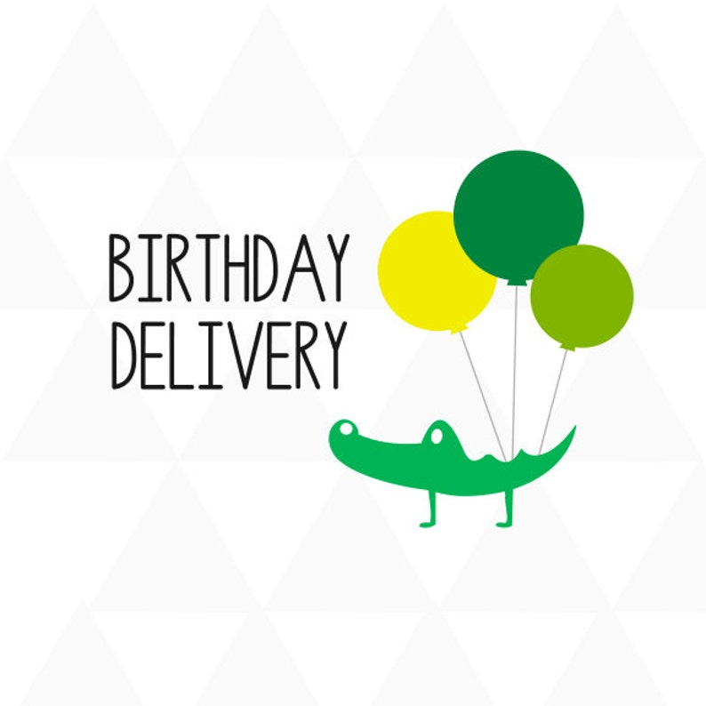 Birthday Card Delivery Alligator Balloons