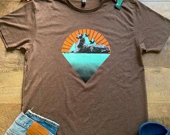 Phish Llamas Under the Stars v2 Espresso shirt