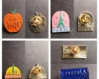 Travel | City enamel pins