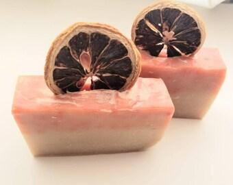 Cranberry Lemon Curd Goat Milk Soap {3.4-4.4 oz}