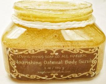 Body scrub, Oatmeal Body Scrub, sugar scrub, sea salt scrub, moisturizing, all natural, body exfoliant