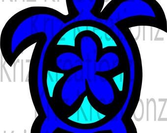 Hawaiian Turtle ~Honu svg cut file