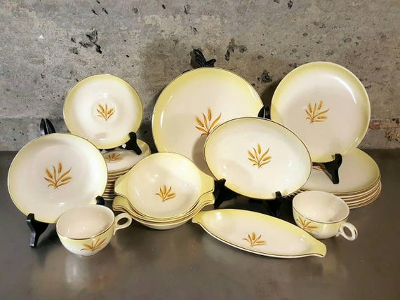 Vintage 28 pc set of Mid Century/Taylor Smith u0026 Taylor/Taylorstone/Versatile & Dishes/Coffee/Tea - MidModery ~ Proprietors of Retro Mixology ...