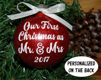 newlywed ornaments etsy