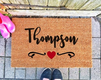 Merveilleux Housewarming Gift Last Name Personalized Doormat, Family Name Doormat  Rustic Doormat Welcome Mat Custom Welcome Mat Personalized Door Mat