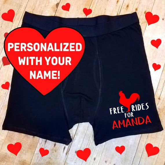 WIHVE Valentines Day Two Dinosaurs Love and Hearts Boxer Briefs Underwear Regular Leg No Ride Up Trunks for Men