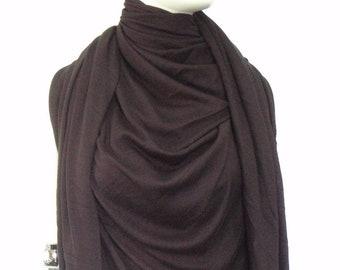 Giant scarf, Large scarf, Multi-function scarf, Maxi scarf, Large shawl, Black, Boiler scarf, Mega scarf, Practical accessory