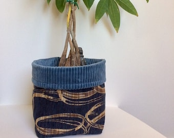 Decorative Home Storage, Reversible Basket, Small or Medium, Pot Cover, Office Accessories, Pocket Empty, Made in Canada,Mgarno,