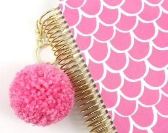Bubblegum Pink Large Pom Pom Keychain