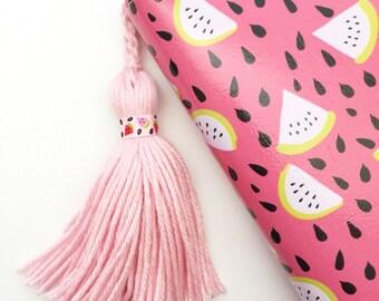 Sweet Watermelon Soft Yarn Tassel or Keychain