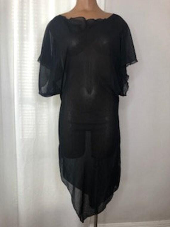 vtg Y2K SHEER black DRESS