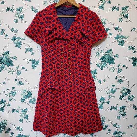 Vintage 60s/70s Mini Sweater Dress XS/S - image 1