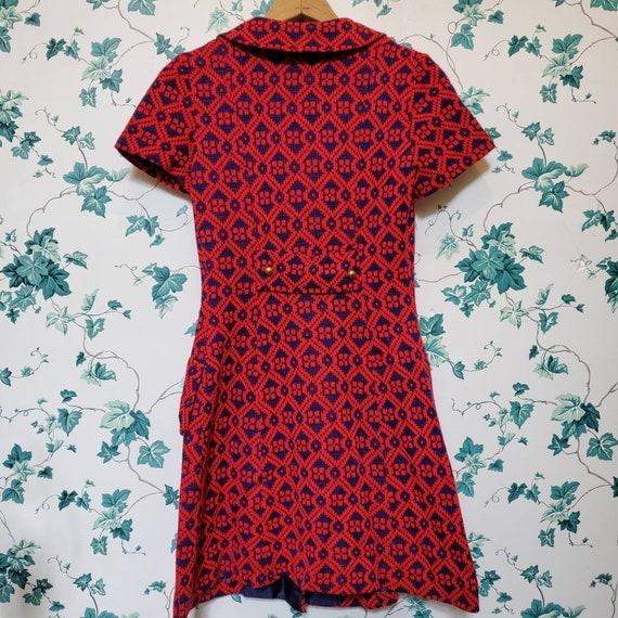Vintage 60s/70s Mini Sweater Dress XS/S - image 7