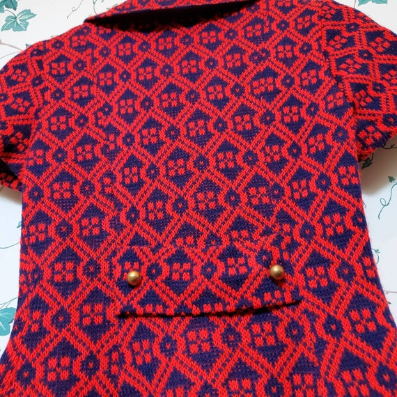 Vintage 60s/70s Mini Sweater Dress XS/S - image 9