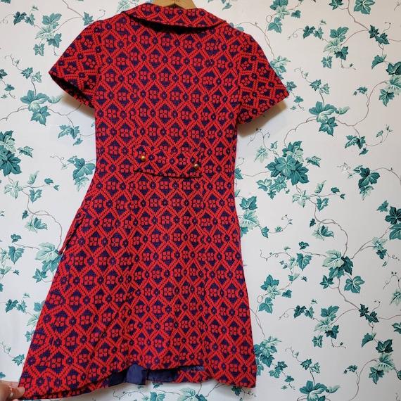 Vintage 60s/70s Mini Sweater Dress XS/S - image 5