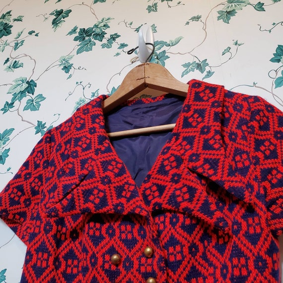 Vintage 60s/70s Mini Sweater Dress XS/S - image 3
