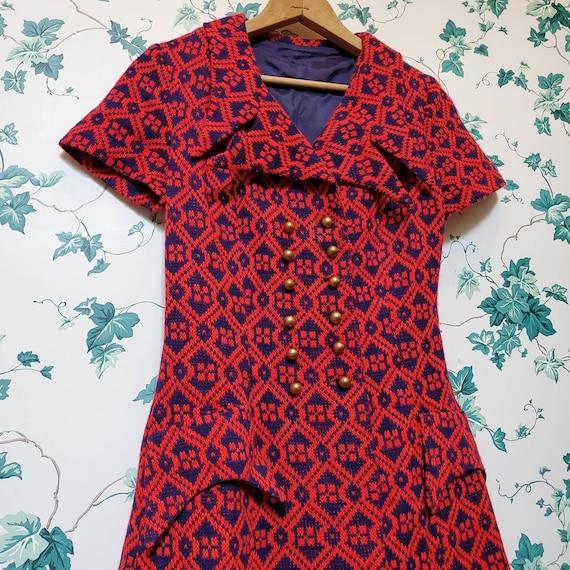 Vintage 60s/70s Mini Sweater Dress XS/S - image 2