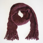 the katie / fringe scarf / claret