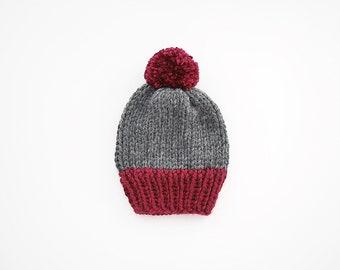 Knit Pom Pom Beanie Hat • The Olivia