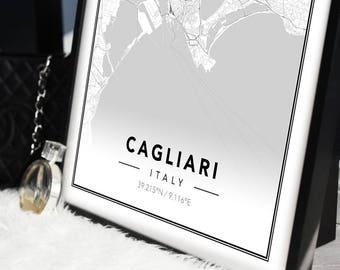 Map Posters Cagliari