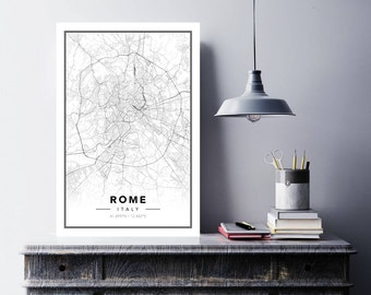 Map Posters Rome
