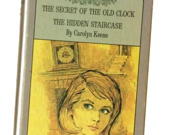 Nancy Drew Mystery Book, Secret of the Old Clock, The Hidden Staircase, Carolyn Keene, Vintage Children's Book, Tween Book, Chapter Book