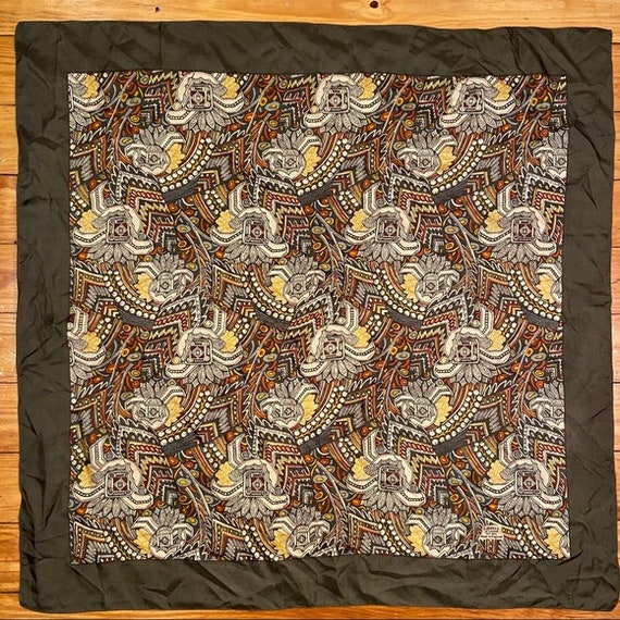 Liberty of London Vintage Green Silk Square Scarf
